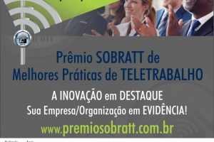Prêmio SOBRATT - Inscrições Prorrogadas