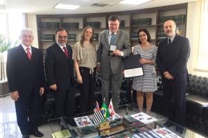 Entrega da Medalha Professor Amauri Mascaro Nascimento ao presidente da OAB SP, Marcos da Costa